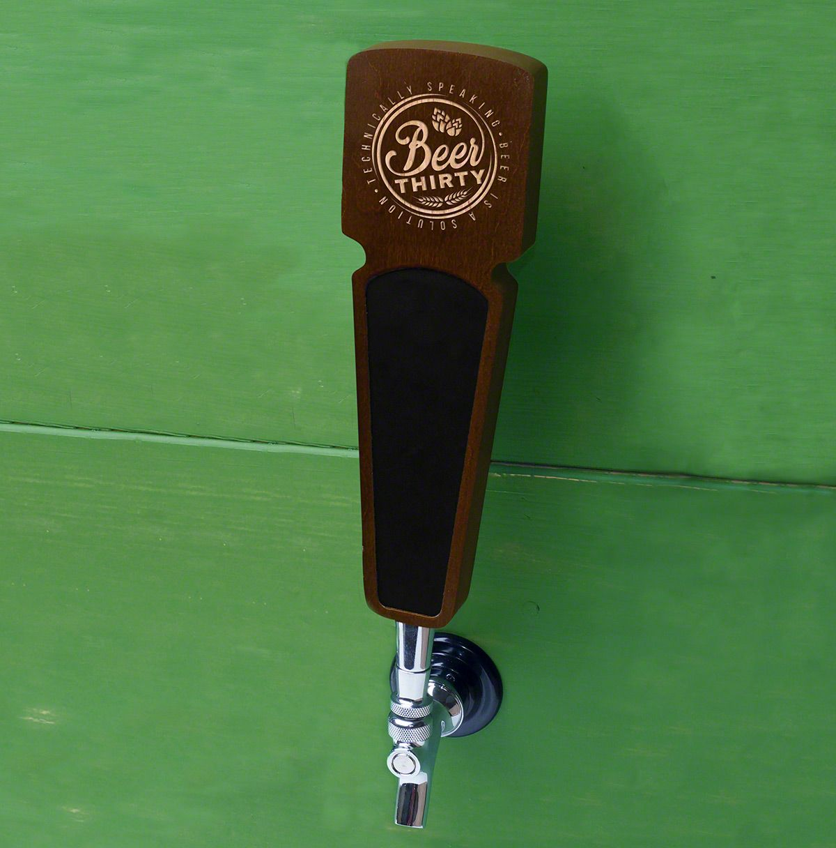 Beer Thirty Walnut Wood Tap Handle