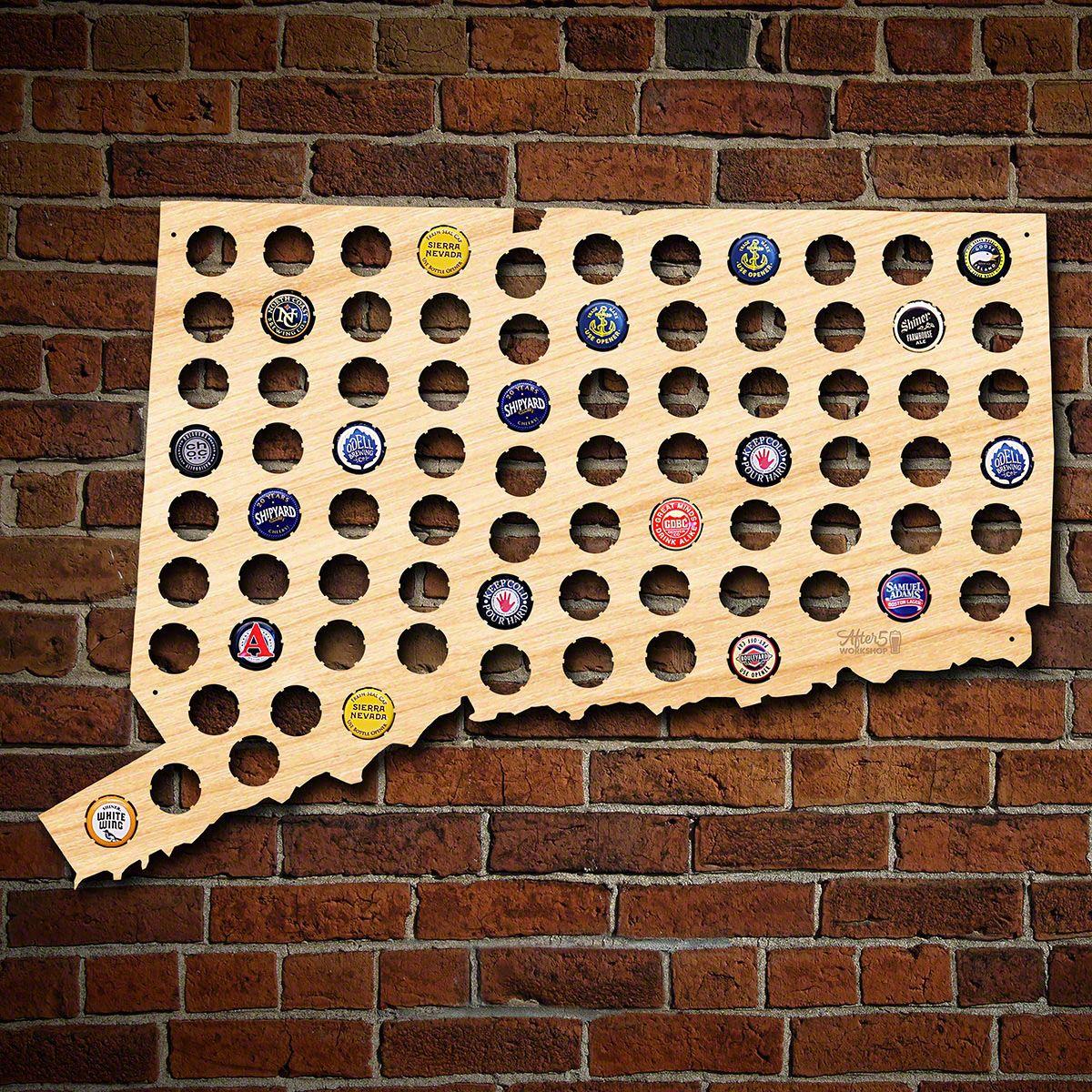 Connecticut Beer Cap Map