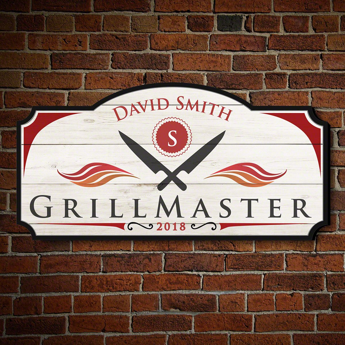 Official GrillMaster Personalized BBQ Sign