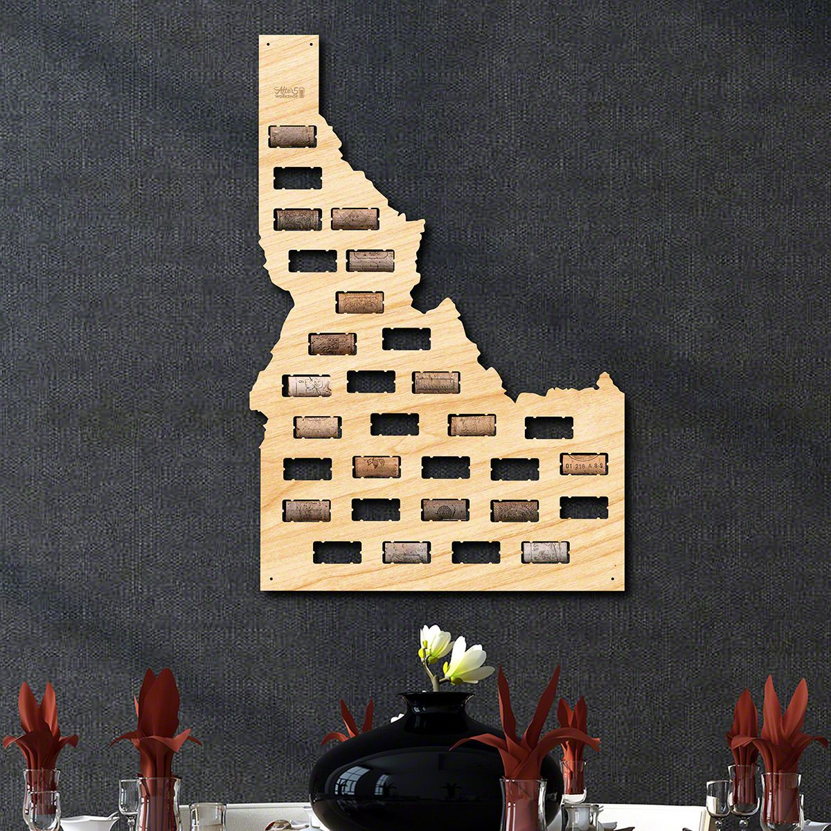 Idaho Wine Cork Map