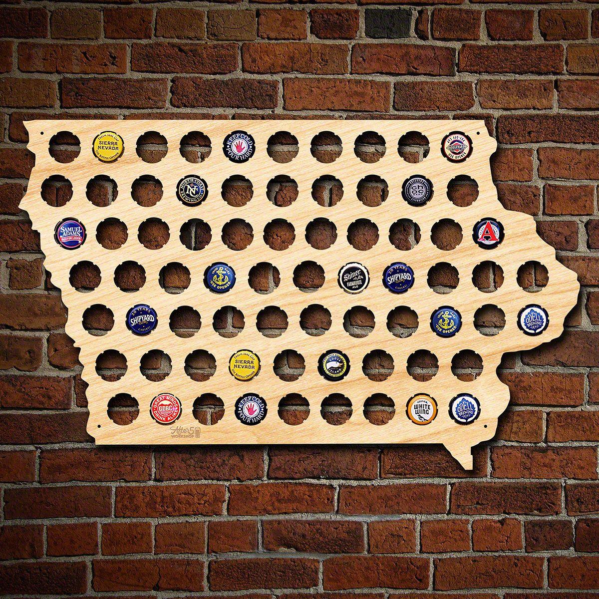 Iowa Beer Cap Map