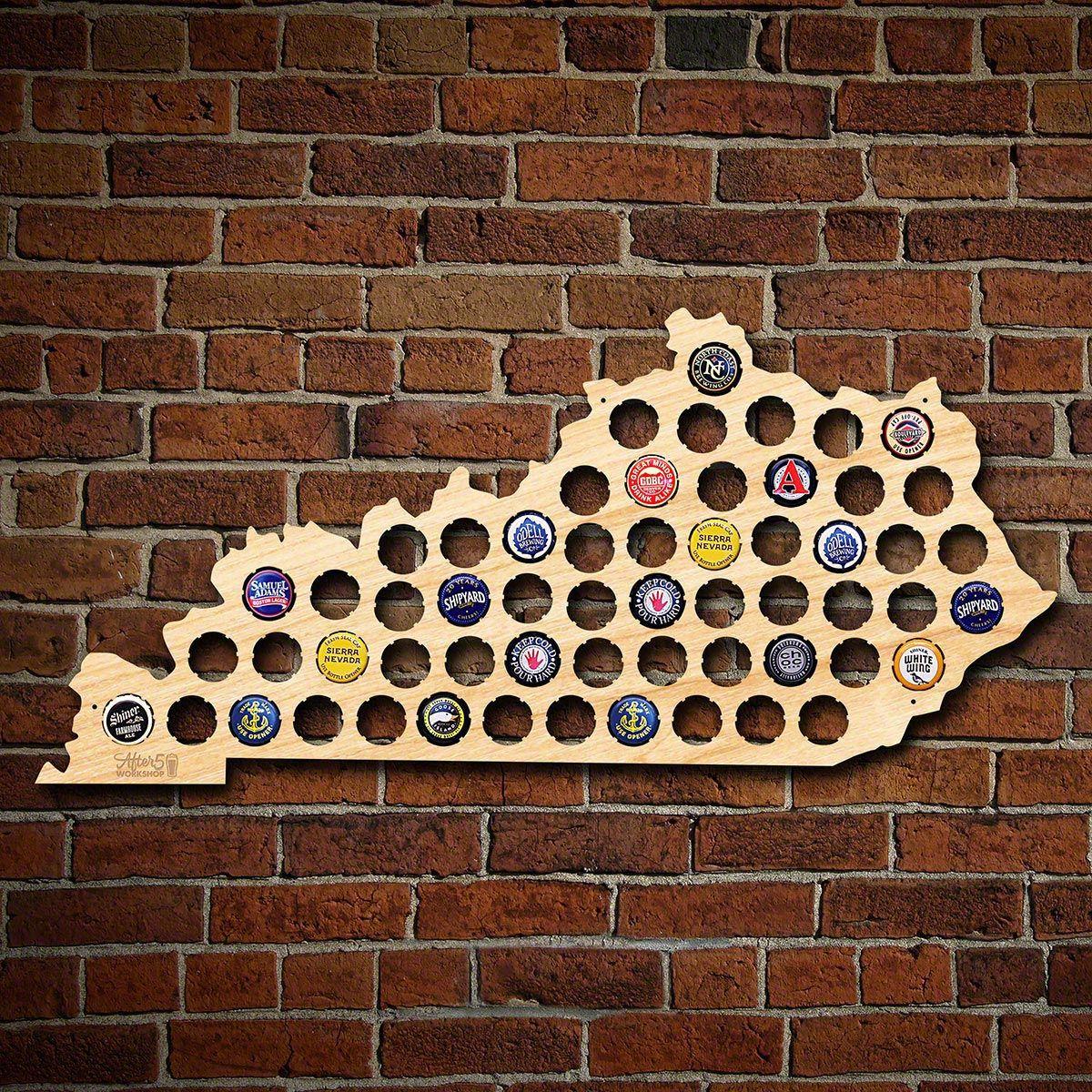 Kentucky Beer Cap Map