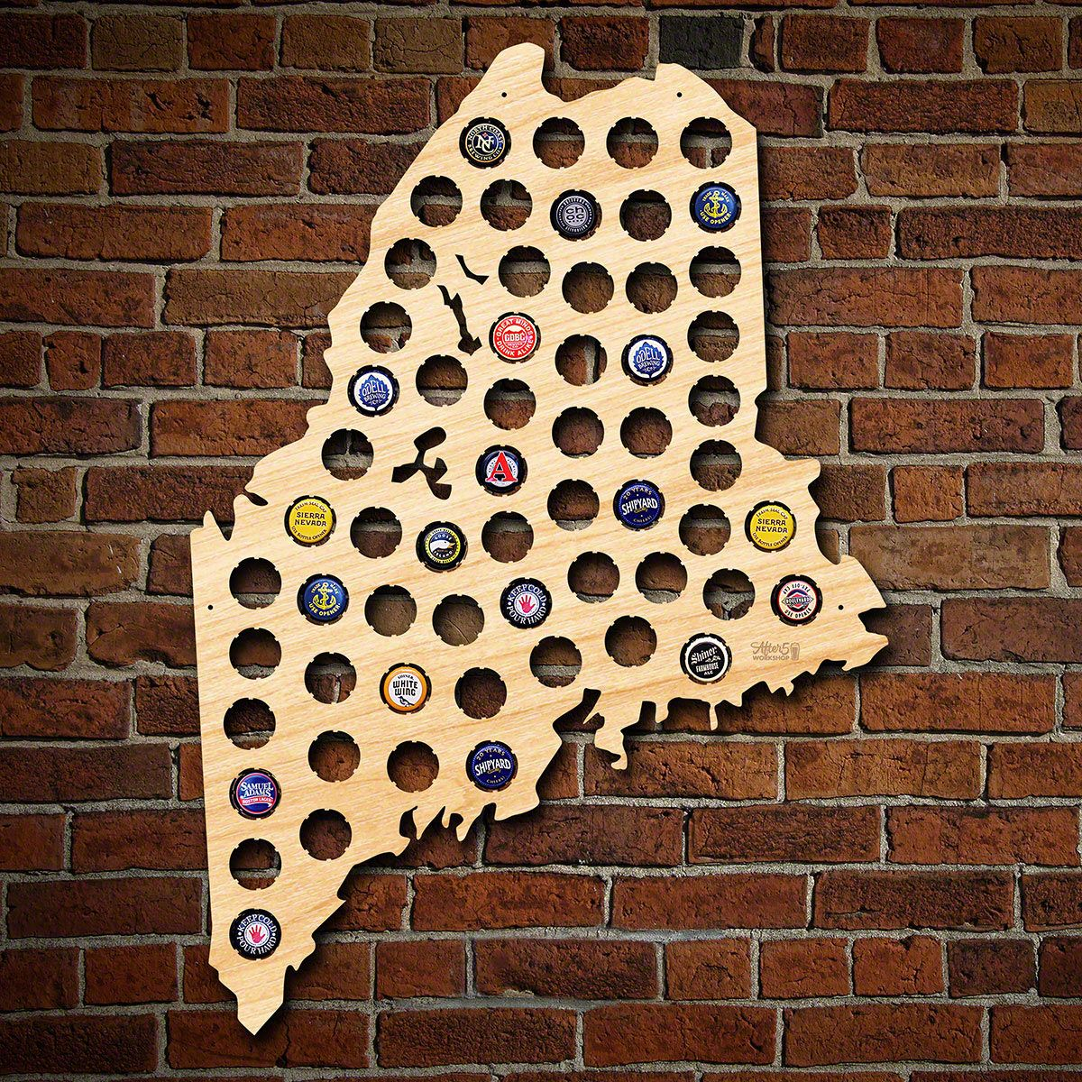 Maine Beer Cap Map