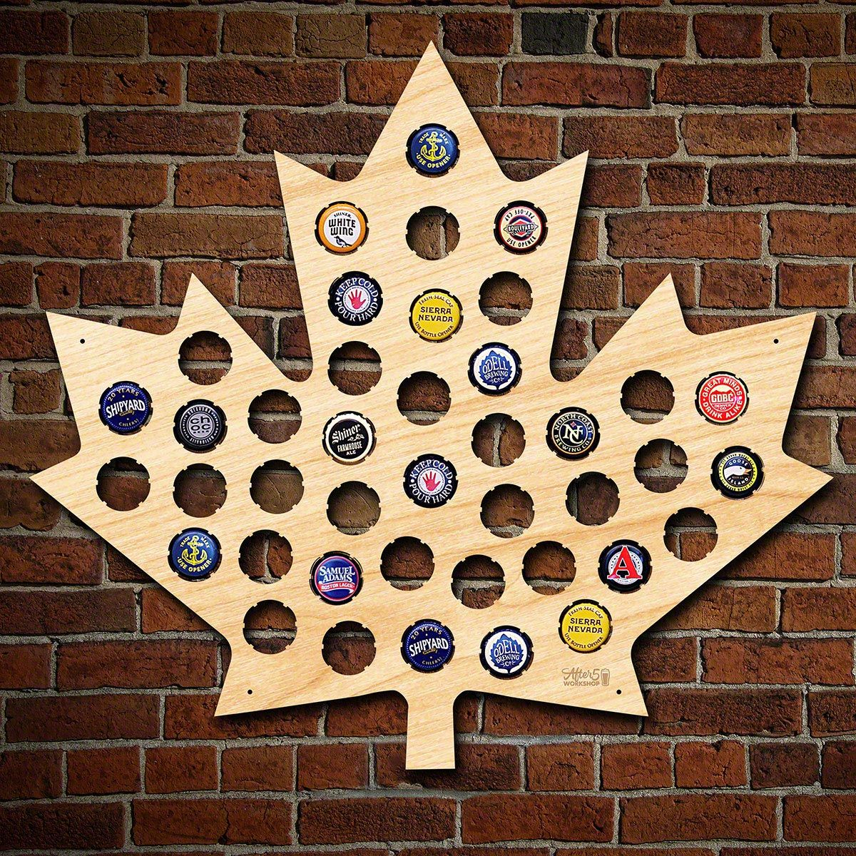 Maple Leaf Beer Cap Map