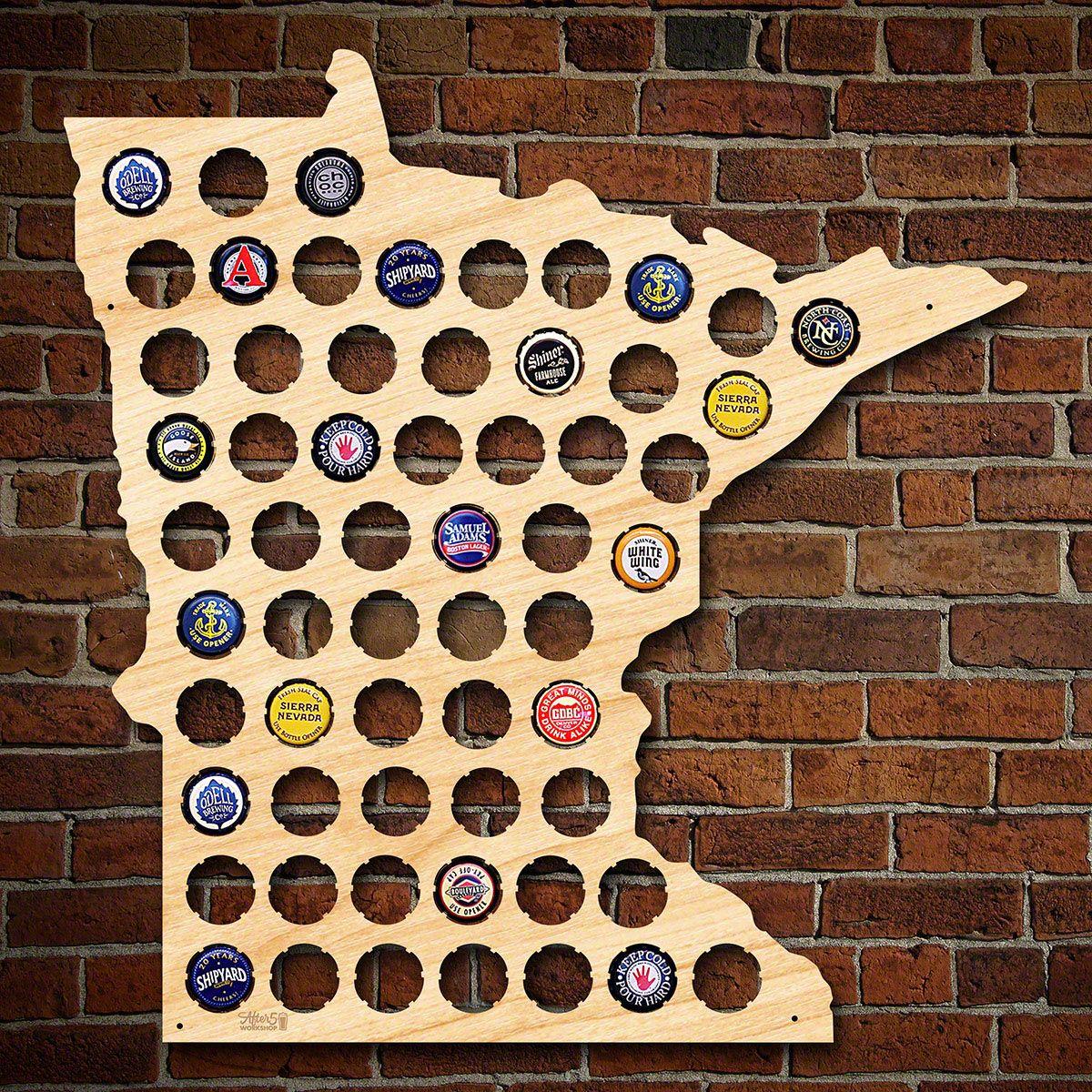 Minnesota Beer Cap Map