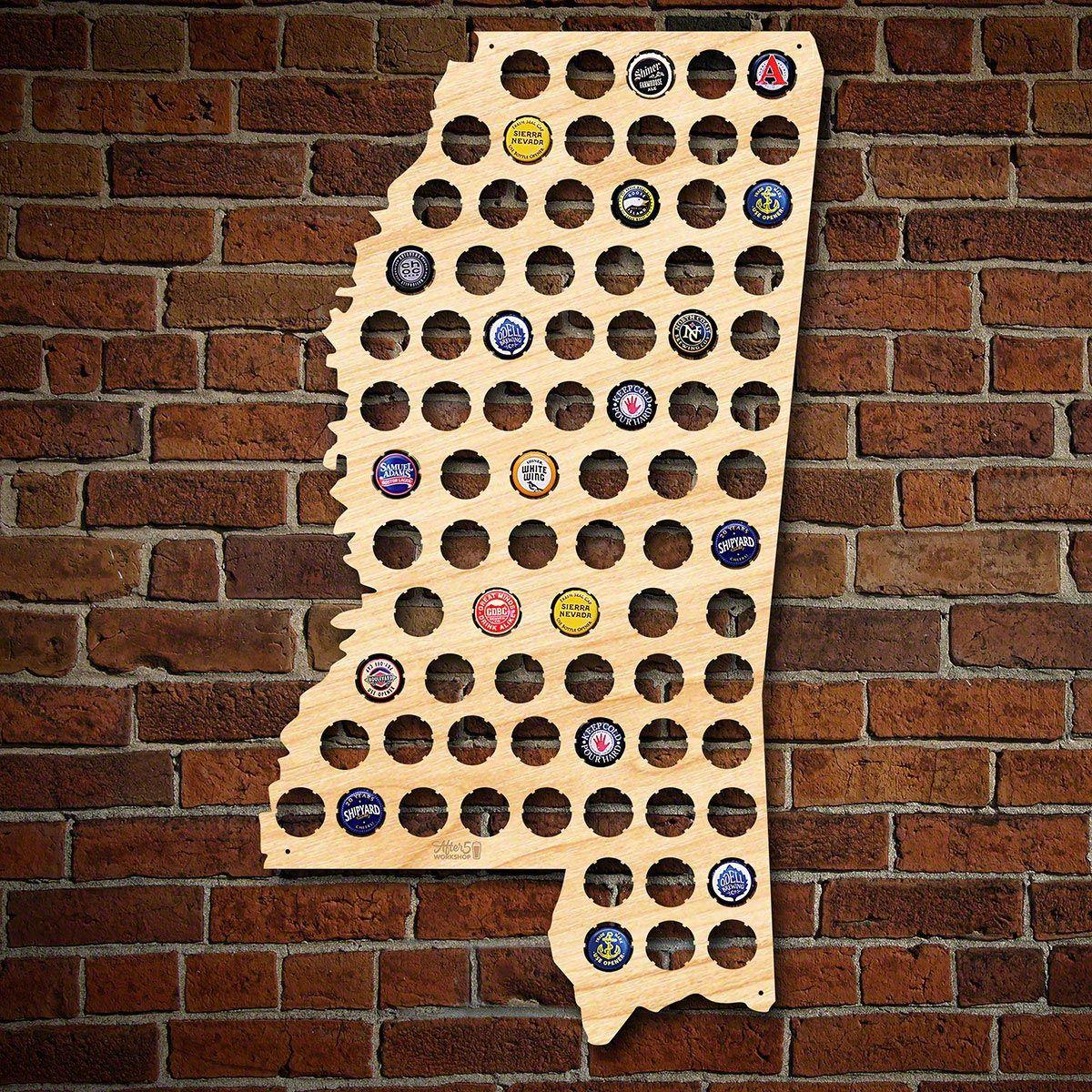 Mississippi Beer Cap Map