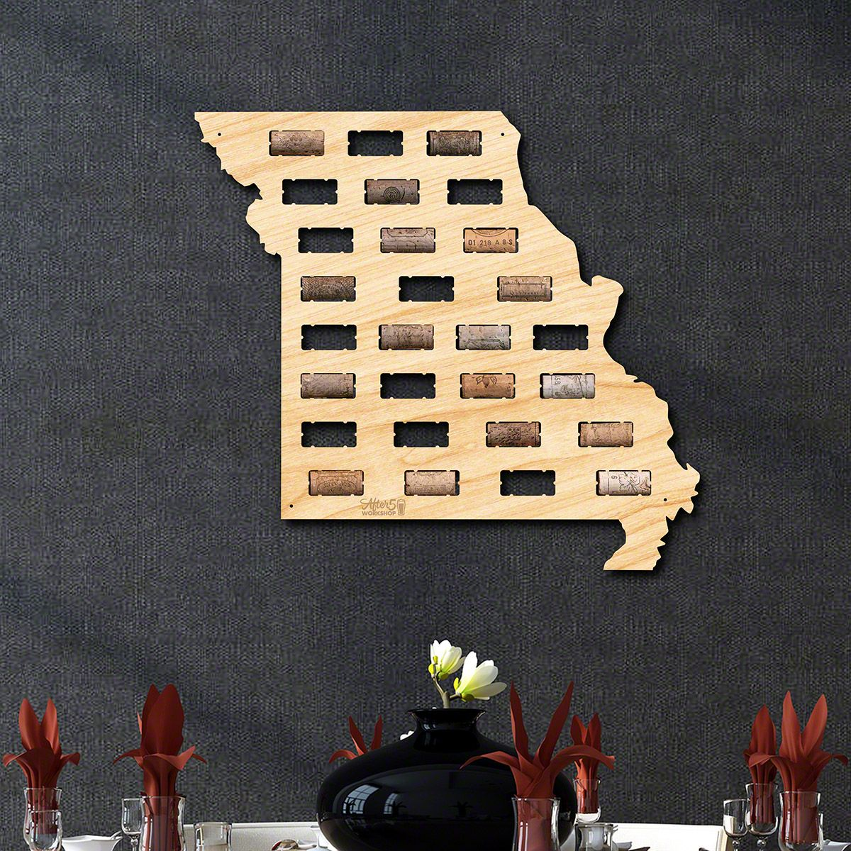 Missouri Wine Cork Map