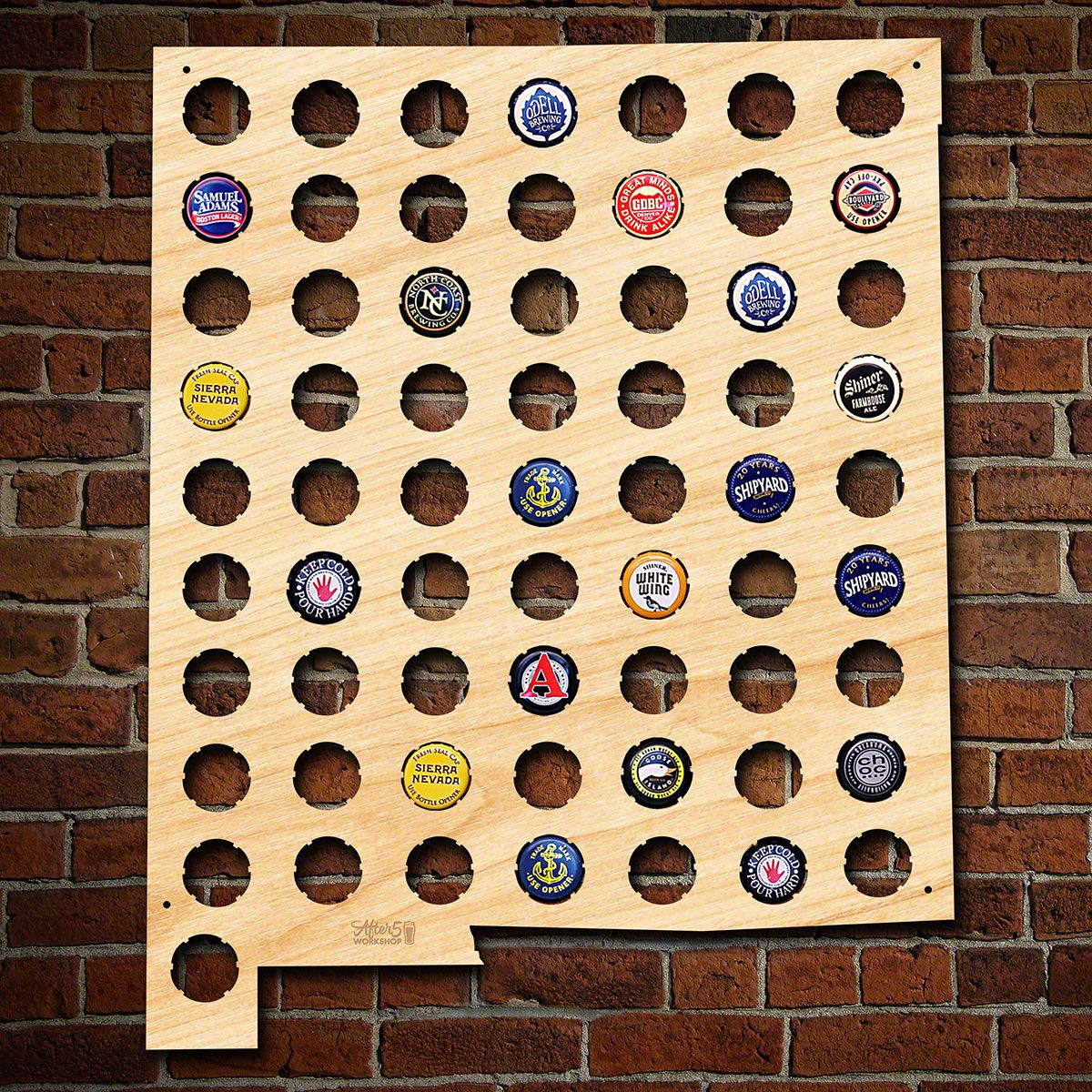 New Mexico Beer Cap Map