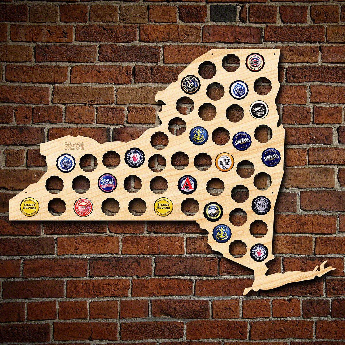 New York Beer Cap Map