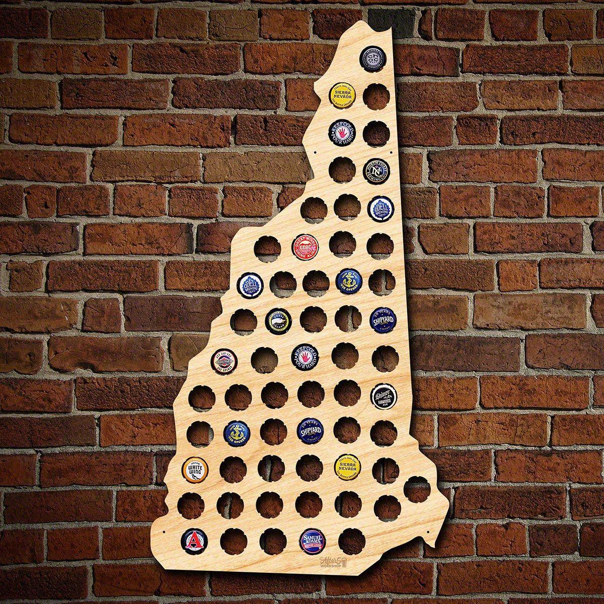 New Hampshire Beer Cap Map