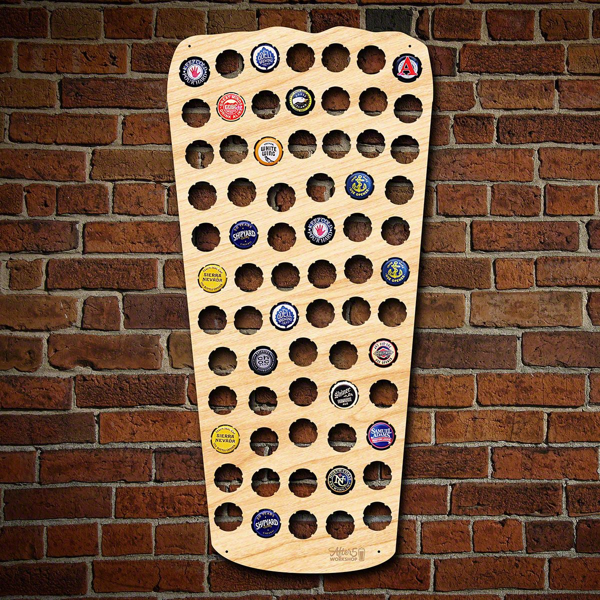 Pint Glass Beer Cap Map