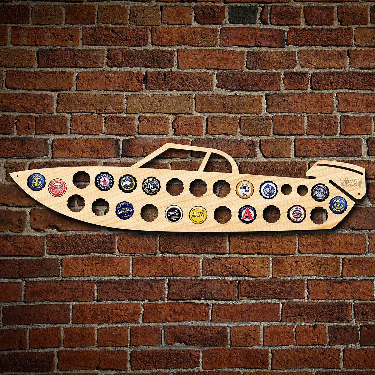 Speed Boat Beer Cap Map
