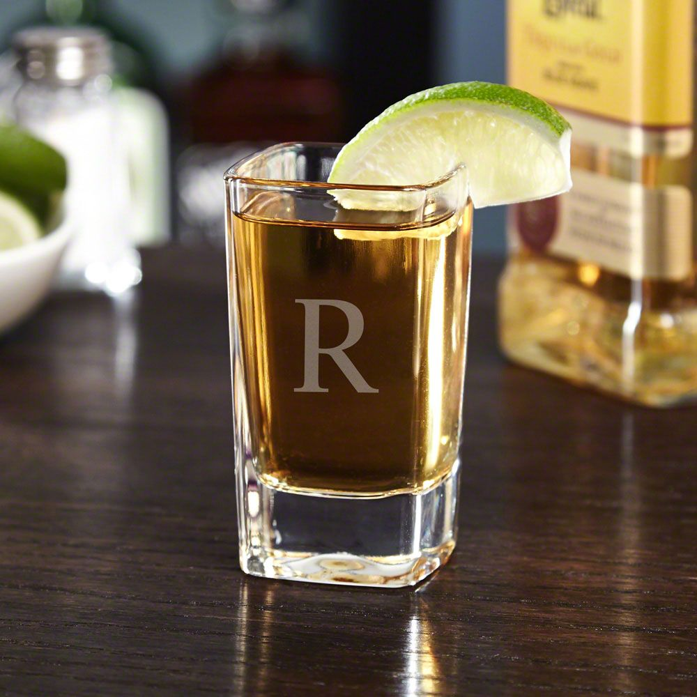Squared Double Personalized Shot Glass