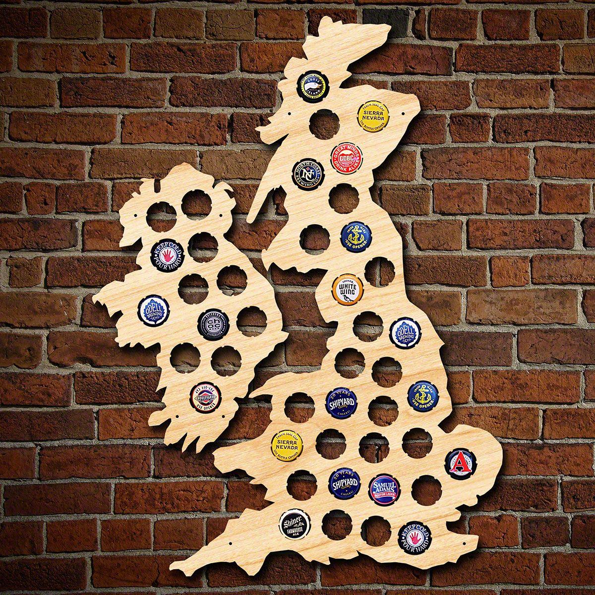 United Kingdom & Ireland Beer Cap Map