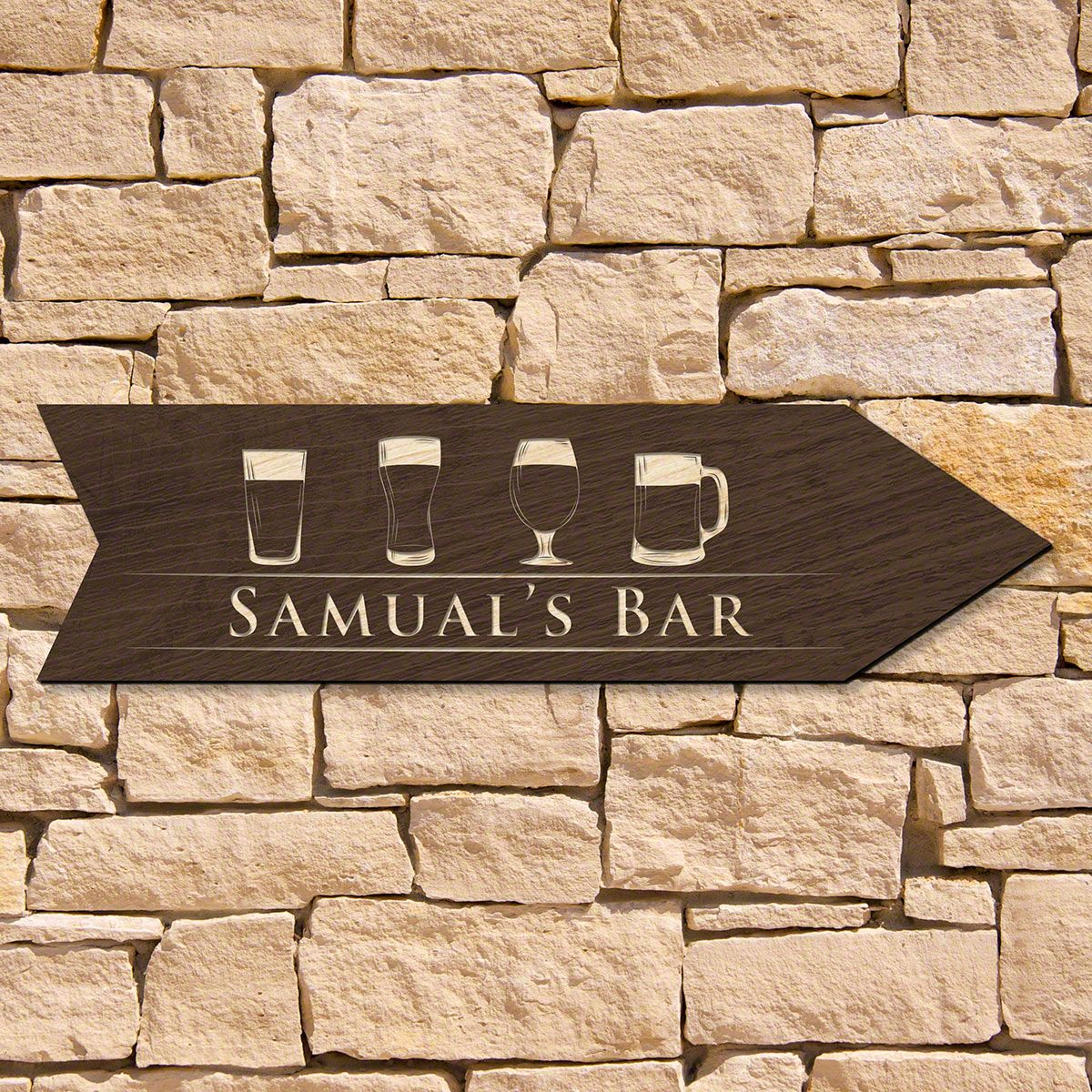 The Craft of Beer Personalized Bar Sign (Signature Series)