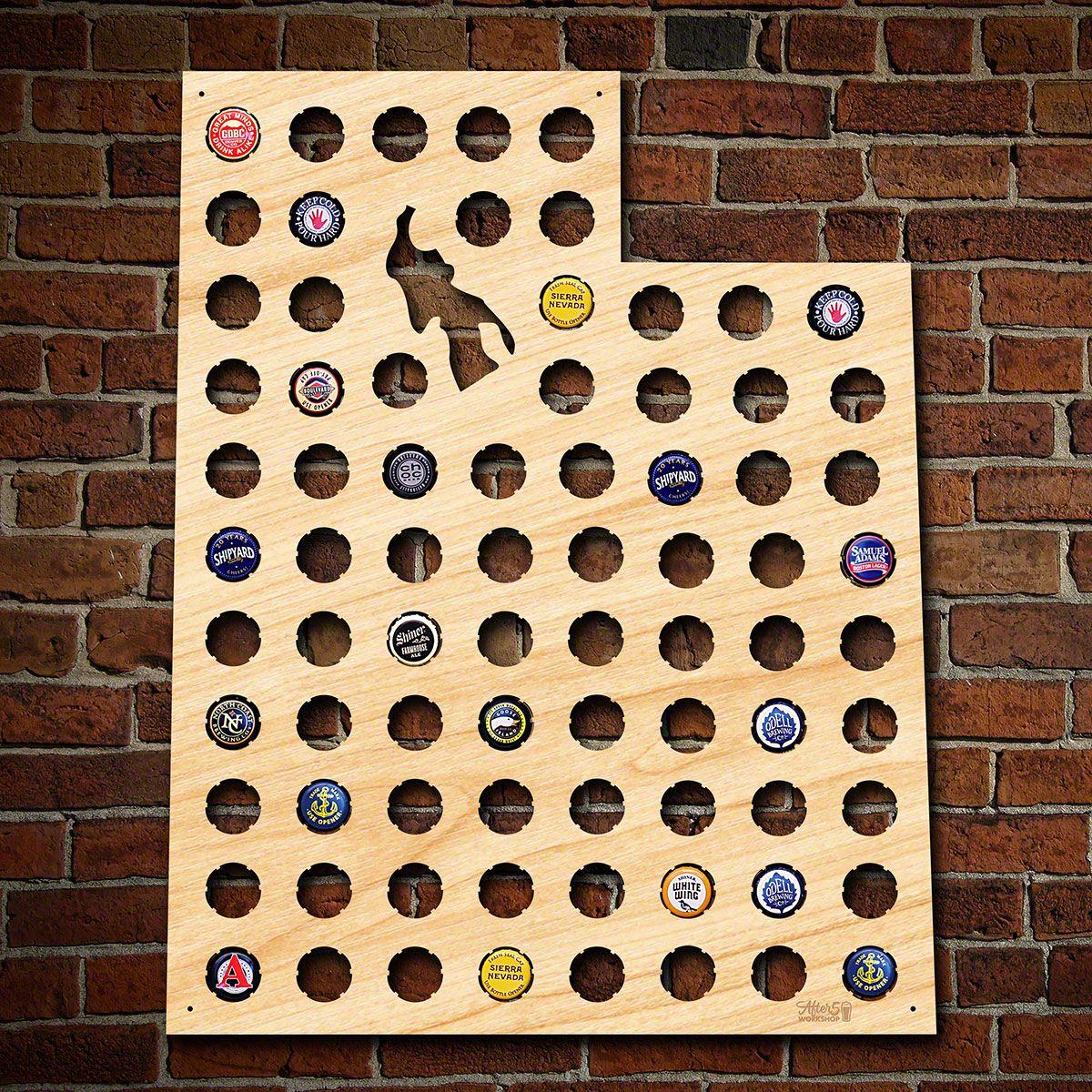 Utah Beer Cap Map