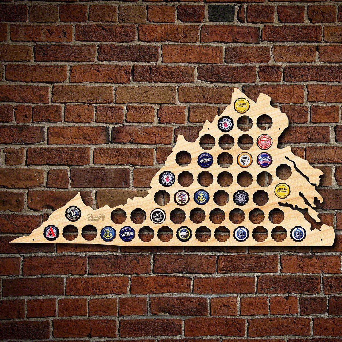 Virginia Beer Cap Map