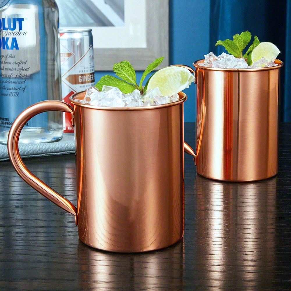 Nikolay Large 22 oz Copper Mugs, Set of 2