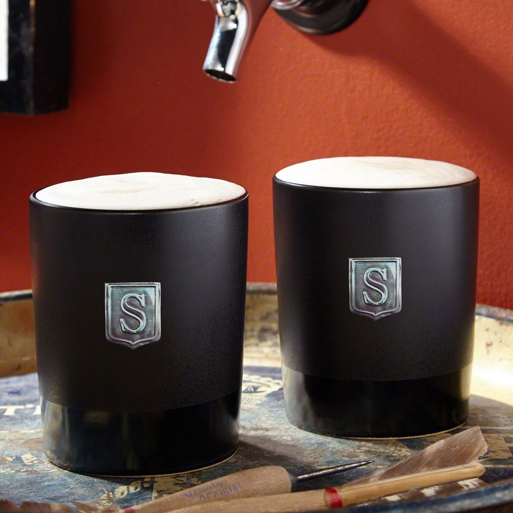Haywood Stoneware Beer Glasses, Set of 2