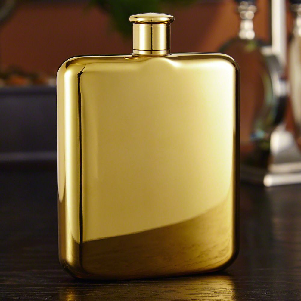 Benway 14K Plated Gold Flask