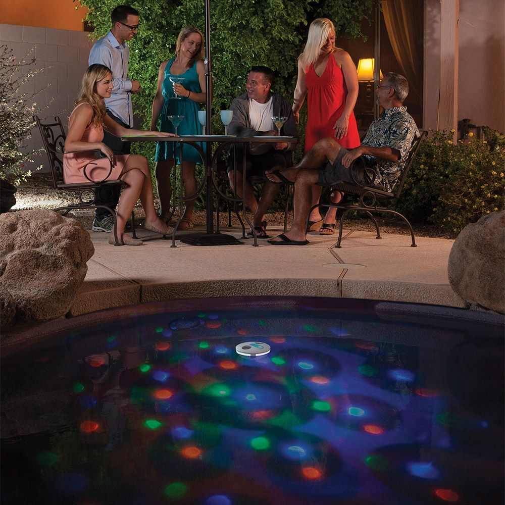Floating Solar Pool Light Show