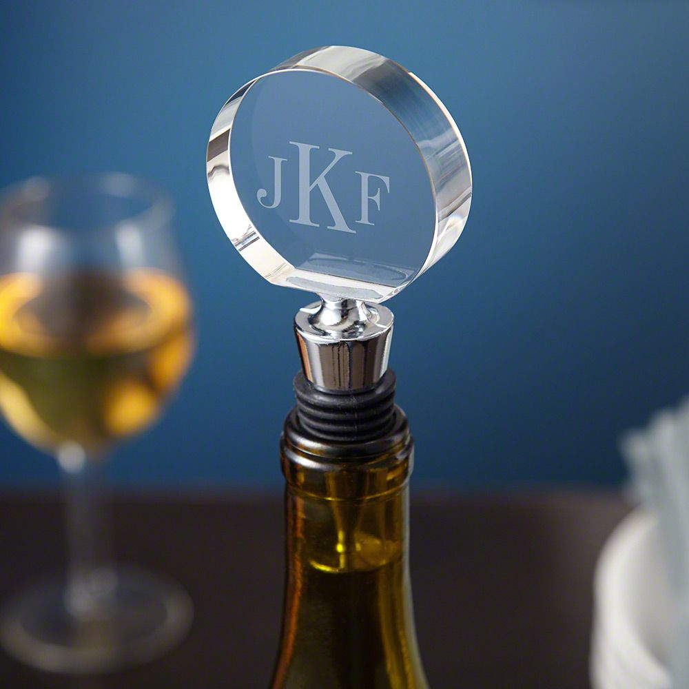 Classic Monogram Crystal Engraved Wine Stopper