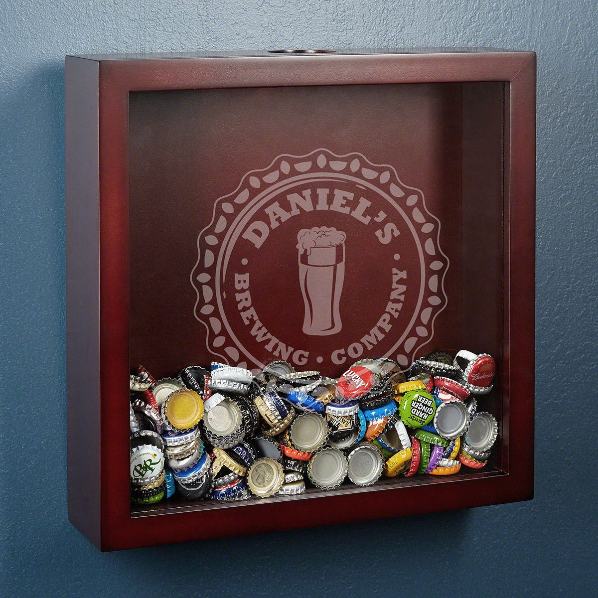 Bottle Cap Brewery Personalized Beer Shadow Box