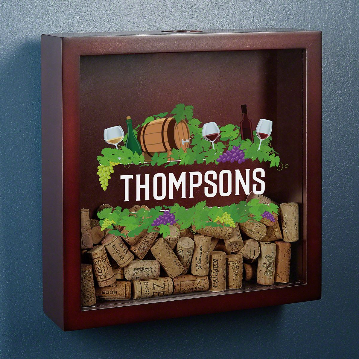 Vintage Pleasures Personalized Shadow Box for Corks
