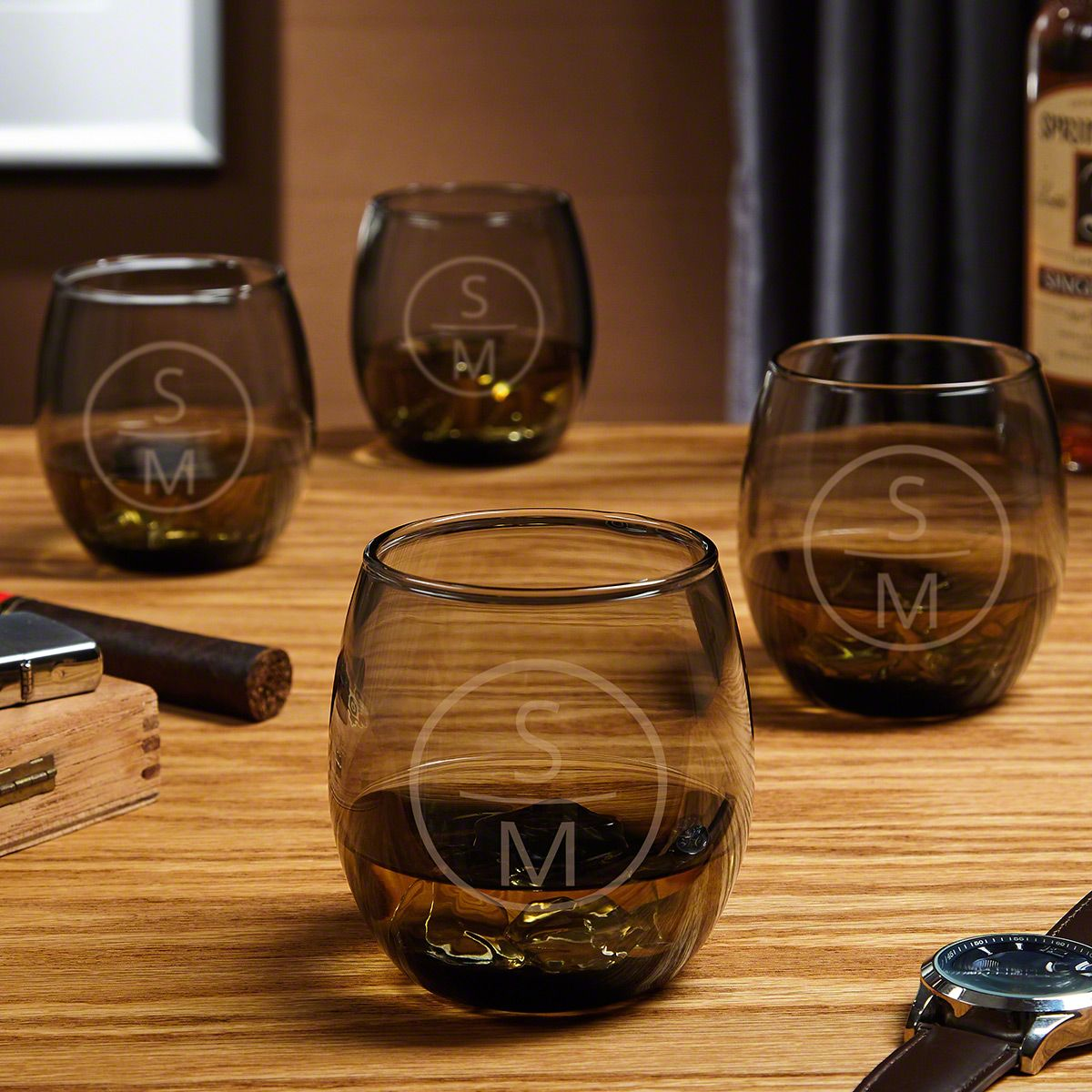 Emerson Personalized Scotch Whiskey Glasses