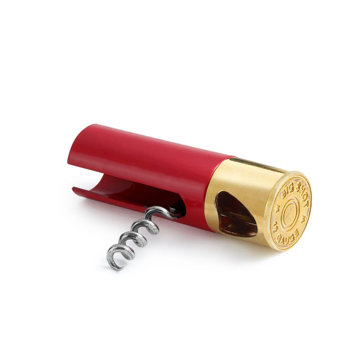 Double Duty Shotgun Shell Engravable Bottle Opener & Corkscrew