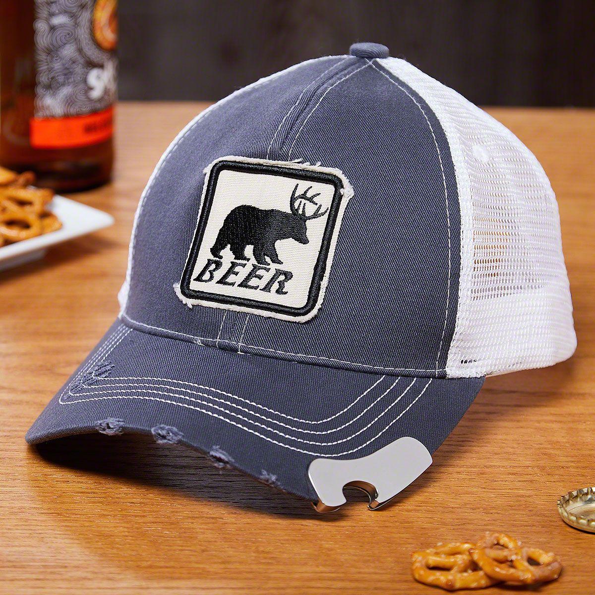 Bear Beer Deer Baseball Cap Bottle Opener