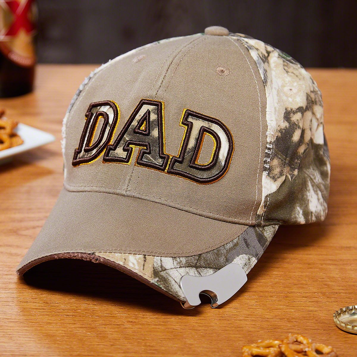 DAD Camouflage Snapback Cap With Bottle Opener