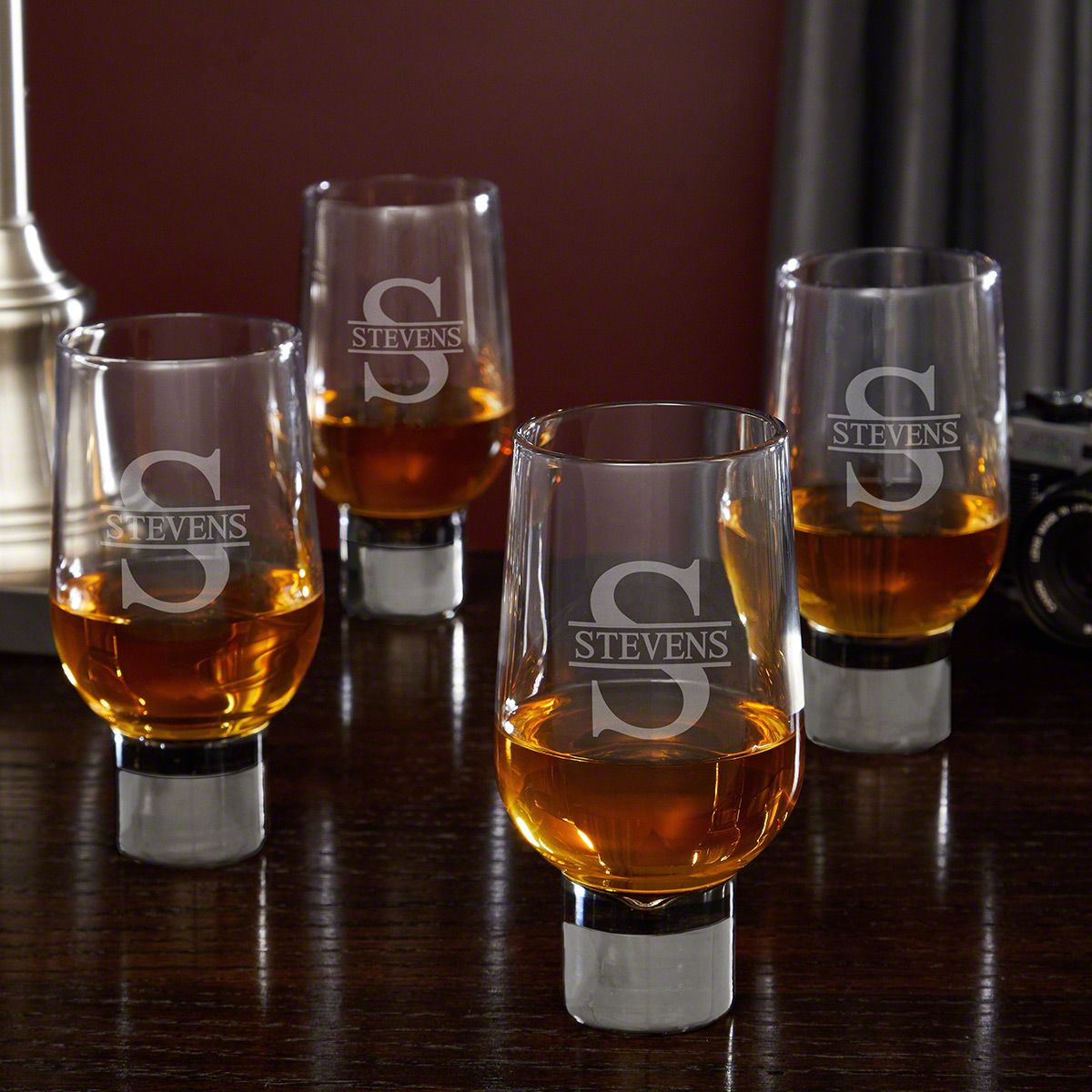 Oakmont Personalized Whiskey Rocks Glasses Set of 4