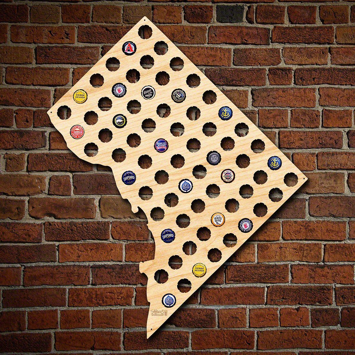 Washington DC Beer Cap Map