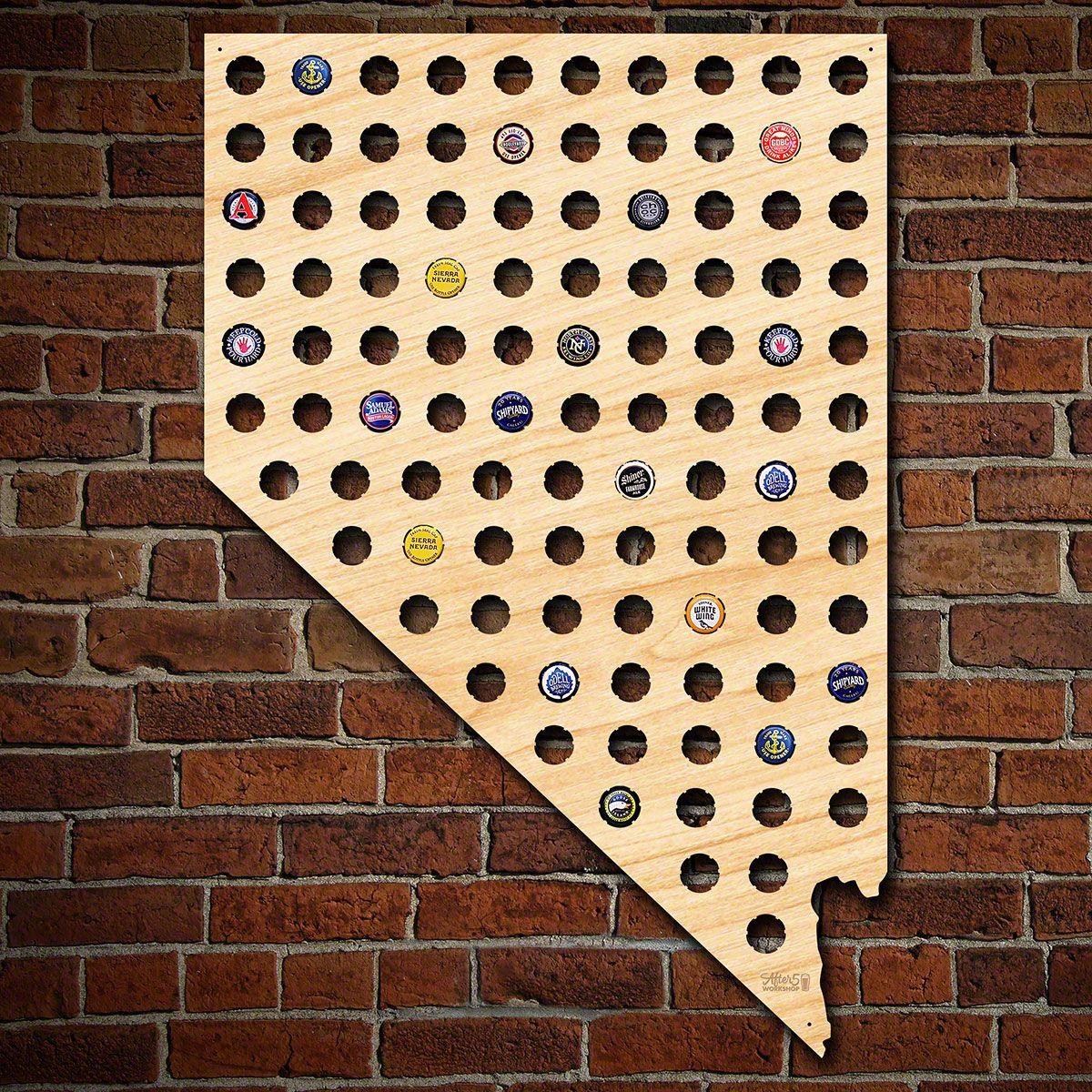 Giant XL Nevada Beer Cap Map