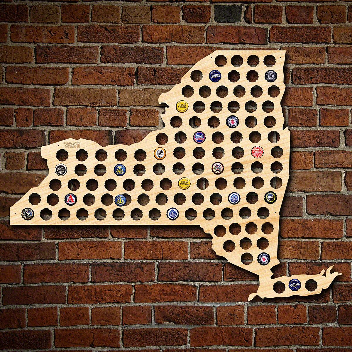 Giant XL New York Beer Cap Map