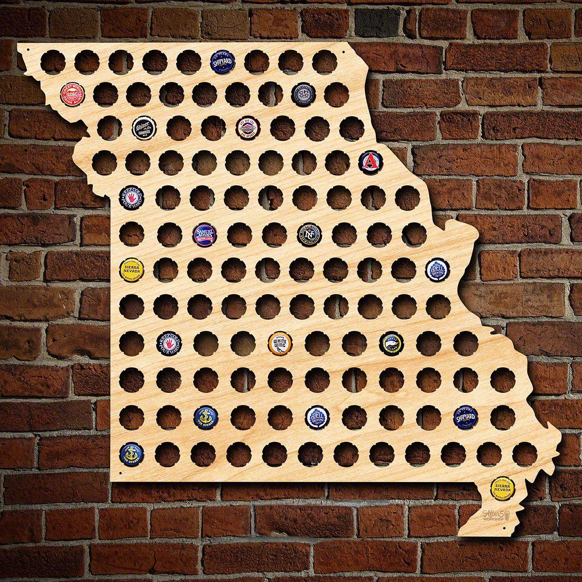 Giant XL Missouri Beer Cap Map