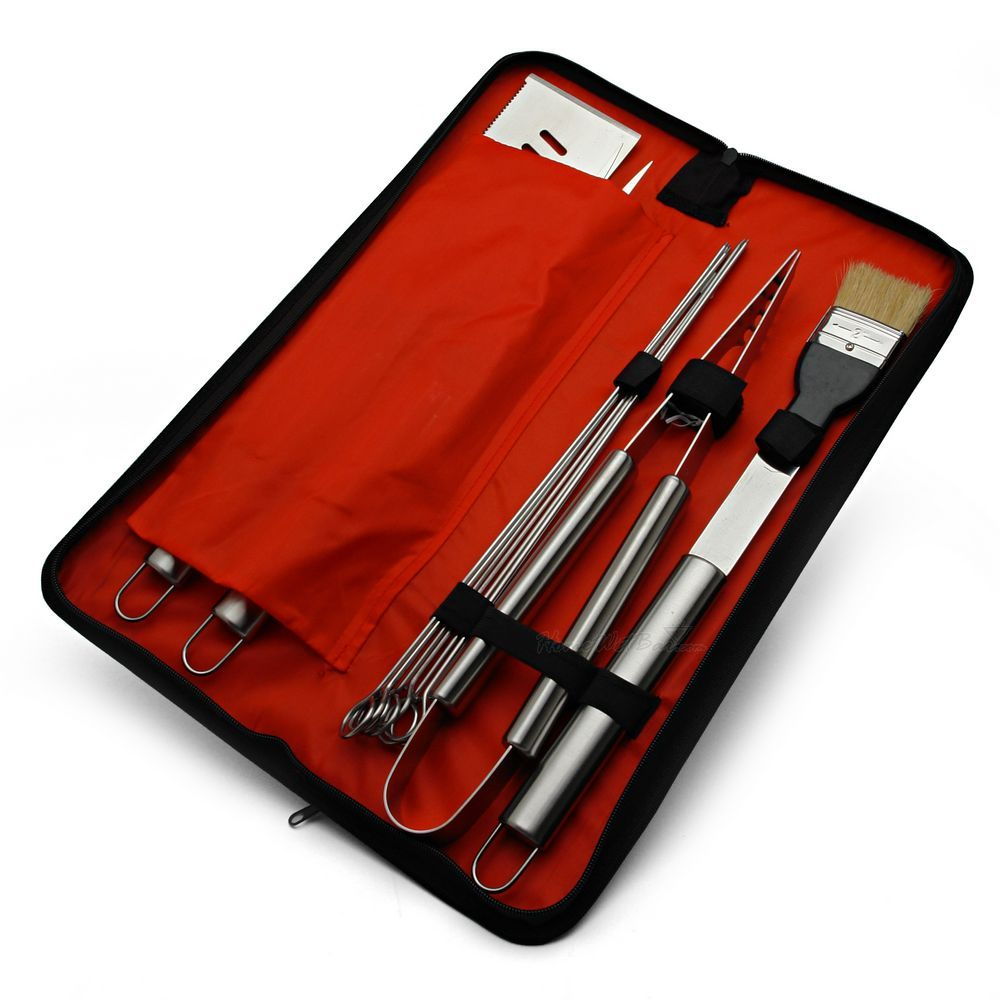Stainless Steel BBQ Tools Set w/ Carrying Case