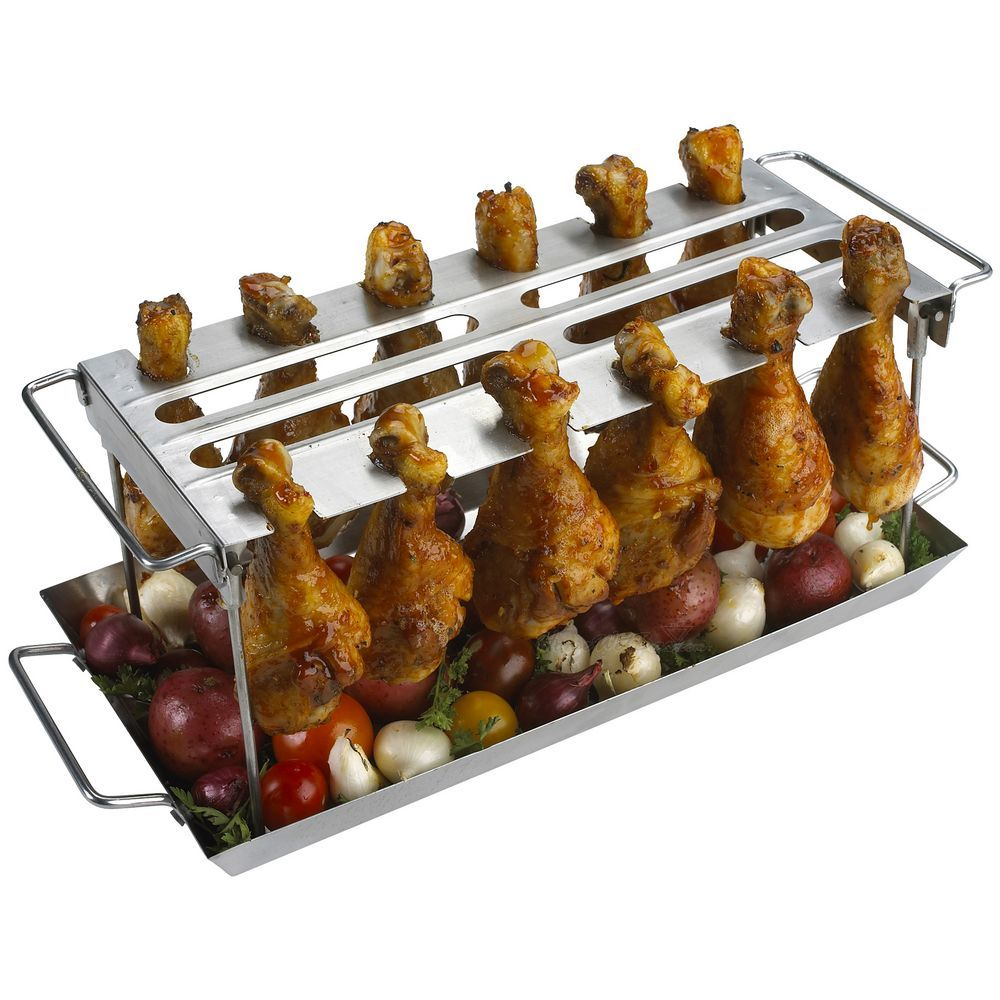 Anti-Flare-Up Grilled Chicken Wings WingRack