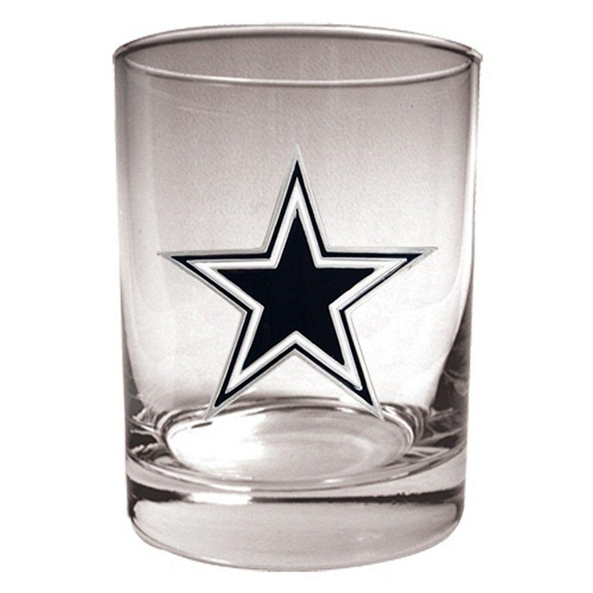 Dallas Cowboys Rocks Glass (Engravable)
