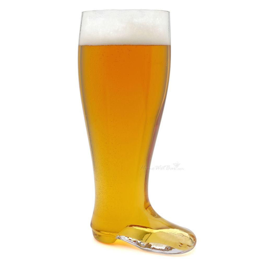 Hand-Blown Das Beer Boot - German 2 Liter