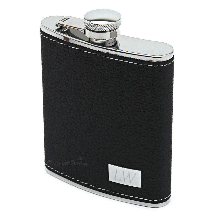 Palermo Leather Hip Flask (Engravable)