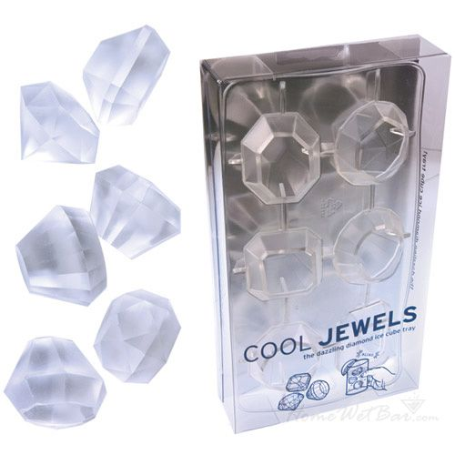 Glamour Jewels Ice Cube Tray