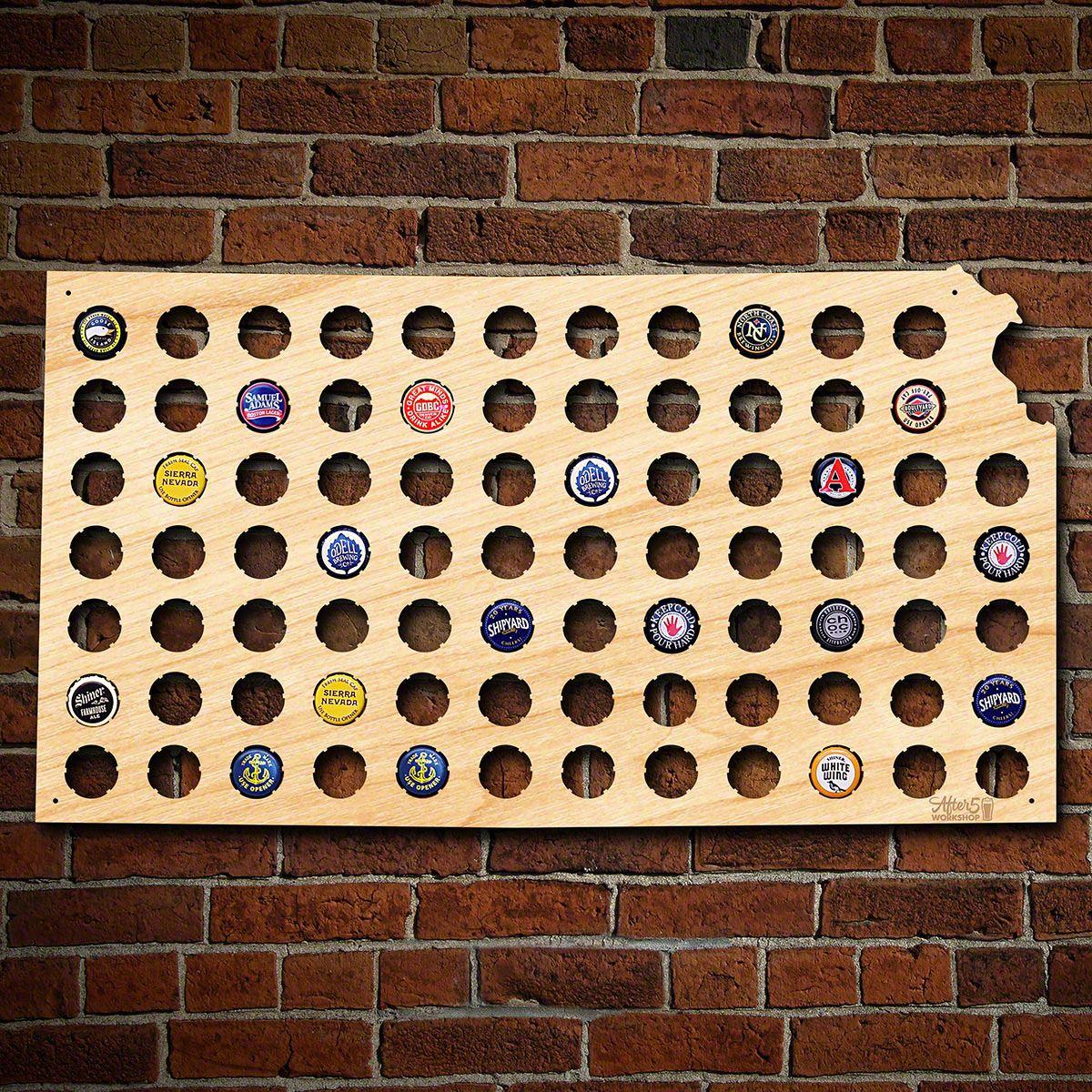 Kansas Beer Cap Map