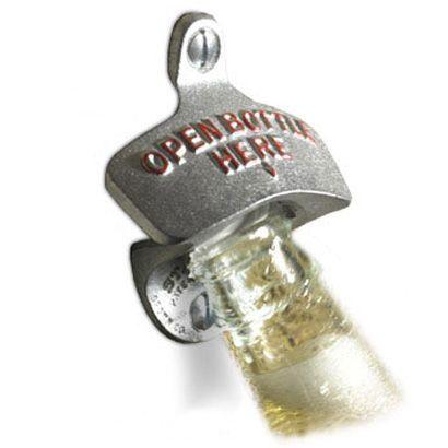 Open Here Iron Bottle Opener