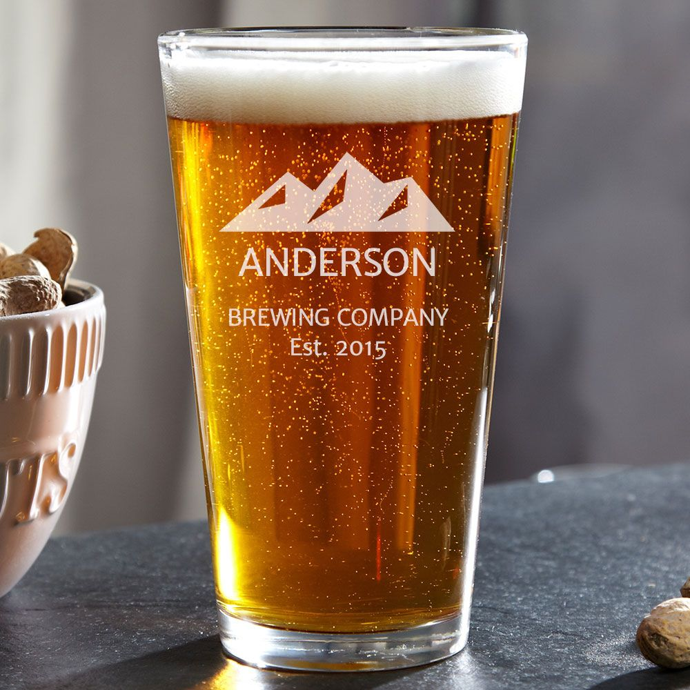 Rocky Mountain Custom Pint Glass