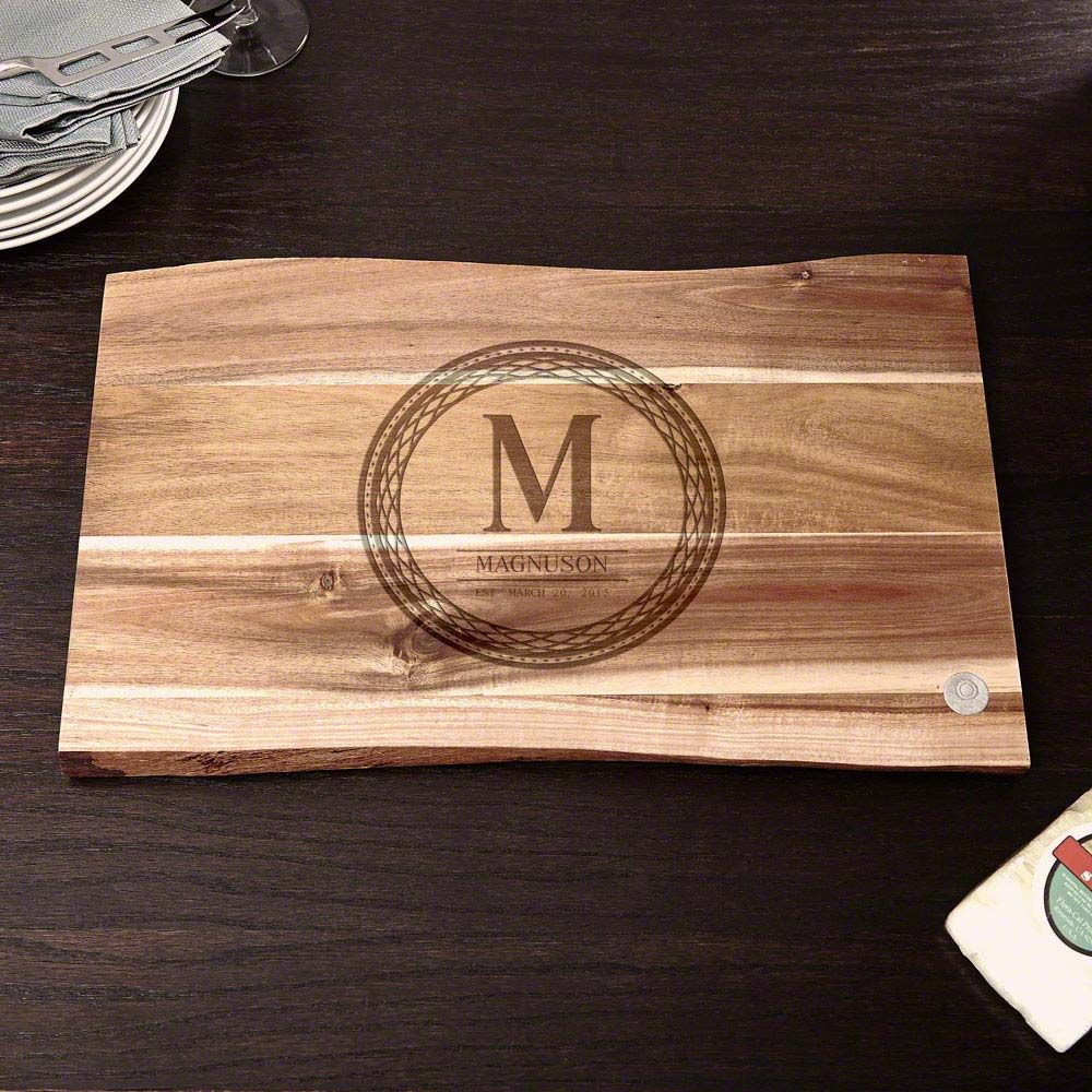 In the Raw Personalized Celtic Circle Cutting Board, 11x17