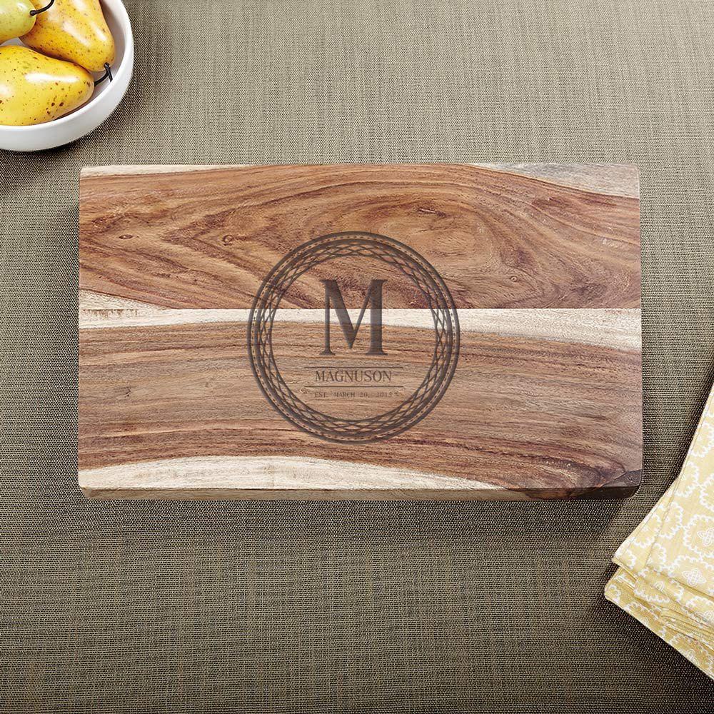 Exotic Hardwood Celtic Circle Personalized Cutting Board