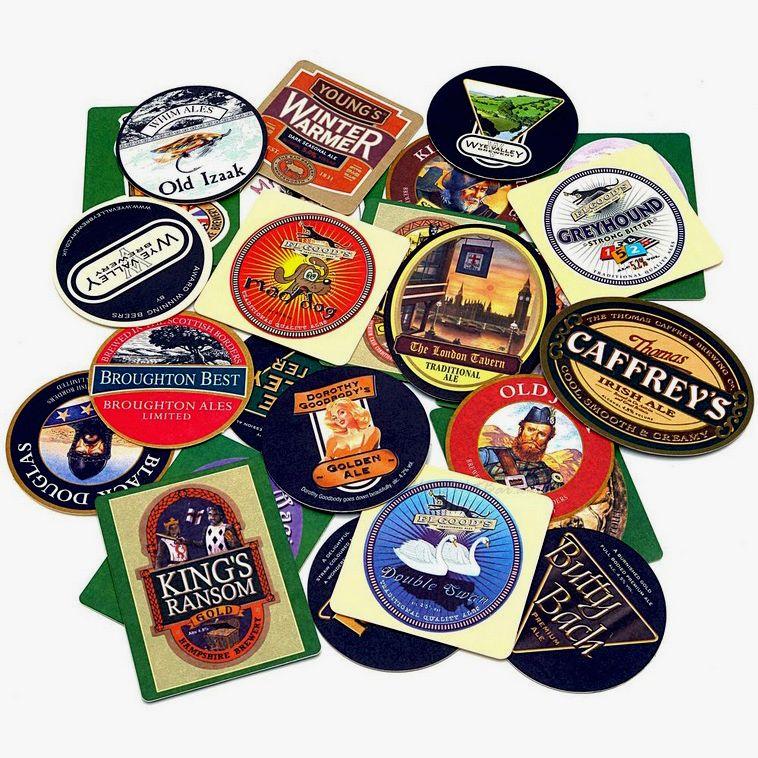 English Pub Coasters, Set of 25