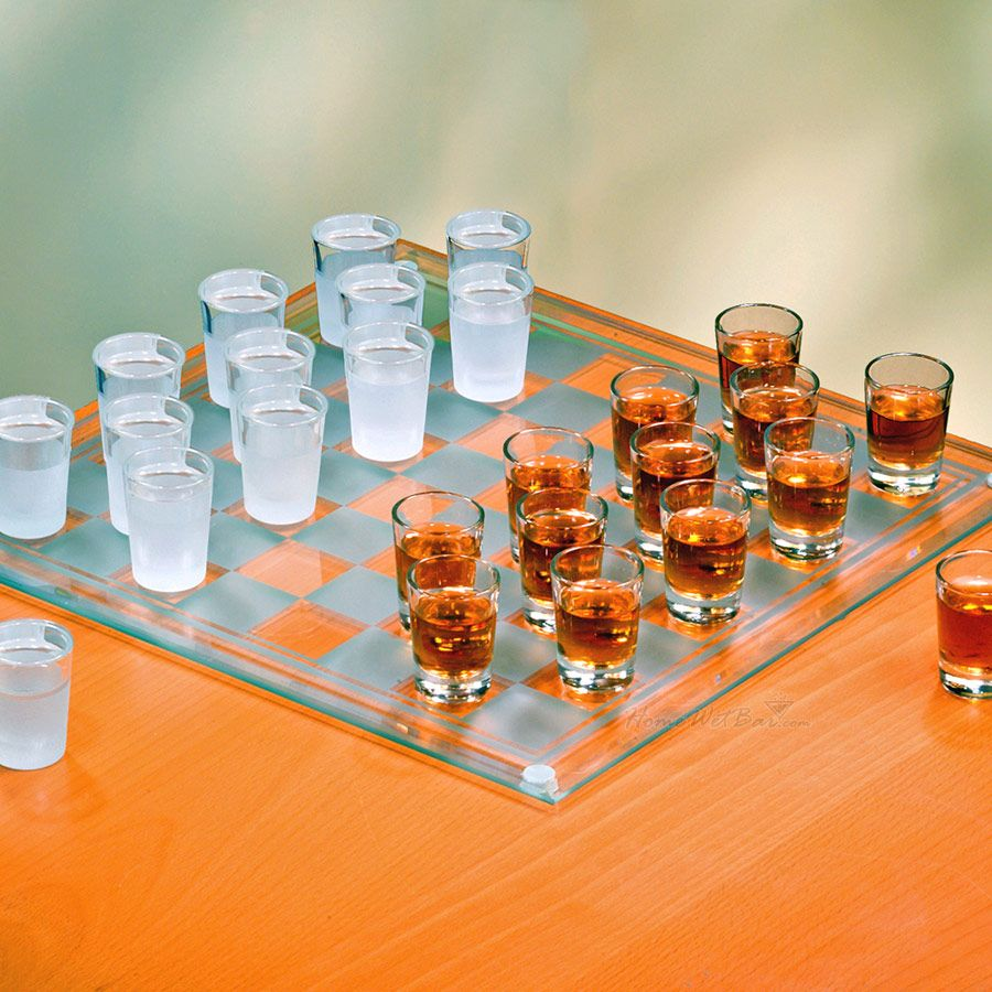 Shot Glass Checkers Set - Full Sized
